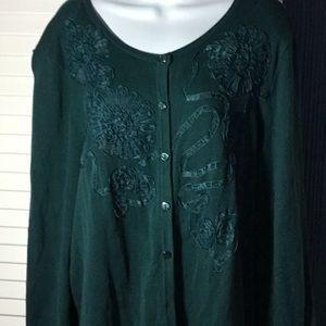 Spruce green cardigan